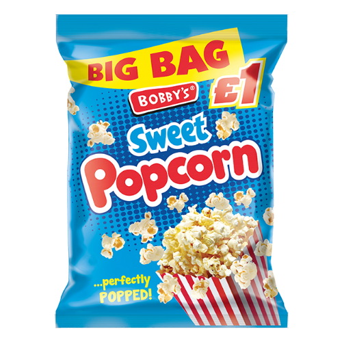 Bobbys Sweet Popcorn 70g	(UK)
